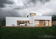 Projekt poschodového rodinného domu Home Fashion, Mansions, House Styles, Home Decor, The World, Modern, Catalog, House, Mansion Houses