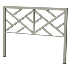 This Amisco Windmill Metal Headboard features an open, geometric pattern that allows your wall color to peek through. Its urban design is customized. Coastal Furniture, Shabby Chic Furniture, Modern Furniture, Welded Furniture, Furniture Refinishing, Furniture Projects, Garden Furniture, Outdoor Furniture, Brown Headboard