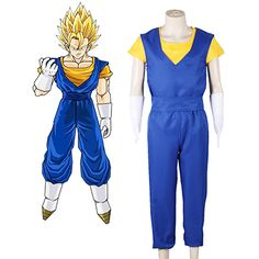 362a0e3cde44 Dragon Ball Vegetto Fighting Uniform Cosplay Costume Anime Cosplay Costumes,  Cosplay Wigs, Cool Costumes