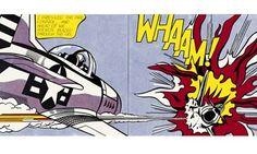 Comic-strip hero ... Roy Lichtenstein's Whaam! (1963). Image: Tate