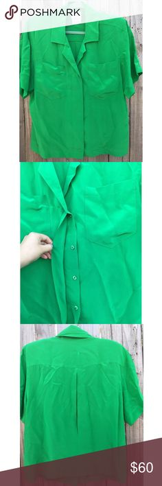 VTG Saks Fifth Ave. Green Blouse Saks Fifth Ave FRANCESCA  For STARINGTON Vintage career/casual Blouse. Shoulder pads. Emerald green. Pre-owned, in beautiful, gently-worn condition. 100% Silk. Size 12. 1980s decade. Manufactured in Hong Kong.  ⚡️Fast Shipper⚡️ 💰20% Off 2+ Items💰 🍀Make An Offer🍀 Tops Blouses