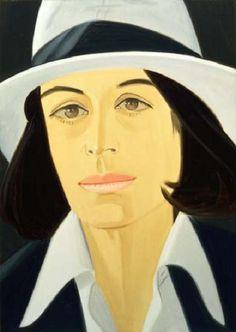White Hat. 1979. Alex Katz (nació en Brooklyn, 24 de julio de 1927), es uno de los precursores del arte pop. Ingresó en 1946 en la Cooper Union School of Art and Architecture.Su obra caracteriza por sus composiciones planas, es conocido por sus siluetas o 'cutouts', retratos pintados sobre madera recortada, que lleva realizando desde los años 60. Su obra esta en el MoMA, el Whitney Museum, el Metropolitan Museum, el Centre Georges Pompidou, la Tate Gallery o el Museo Reina Sofía.
