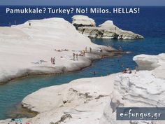 """Sarakiniko"" na ostrvu Milos u Egejskom moru Places Around The World, Travel Around The World, Around The Worlds, Wonderful Places, Beautiful Places, Sarakiniko Beach, Exotic Places, Greek Islands, The Good Place"