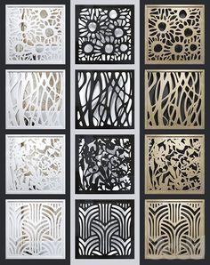 models: Other decorative objects - Set of decorative Laser Cut Panels, Metal Panels, Breeze Block Wall, Decorative Screen Panels, Wooden Partitions, Cnc Cutting Design, Partition Design, Cube Design, Art Deco Pattern