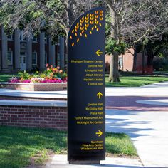 undefined                                                                                                                                                                                 More Entrance Signage, Exterior Signage, Outdoor Signage, Environmental Graphic Design, Environmental Graphics, Pylon Sign, Wayfinding Signs, Sign System, Directional Signs