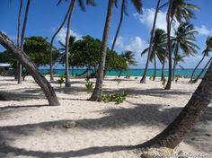 la plage de la Feuillère à Marie-Galante