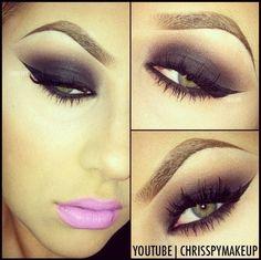 dark eyes and bright pink lips <3 <3 @Christina Pippenger