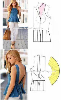 Corset Sewing Pattern, Dress Sewing Patterns, Clothing Patterns, Fashion Sewing, Diy Fashion, Ideias Fashion, Costura Fashion, Fashion Infographic, Natural Dye Fabric