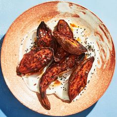 Charred Sweet Potatoes with Toum