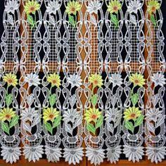 Macrame Lace Cafe Curtains Lace Valances, Lace Curtains, Macrame Curtain, Lacemaking, Different Colors, Pattern, Patterns, Model, Swatch