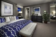 awesome 40 Cool Blue And White Bedroom Design Ideas  https://about-ruth.com/2017/12/14/40-cool-blue-white-bedroom-design-ideas/