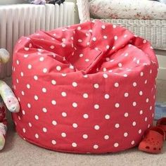 spotted child's beanbag