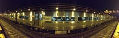 Long Island railroad (LIRR) train Panoramic Picture. Purchase this beautiful panorama and more by visiting http://panoramicpanorama.com