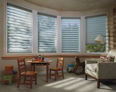 Operating systems like PowerRise and ULTRAGLIDE® Lifting Systems enhance child safety and ease of use | Luxaflex Silhouette Shadings