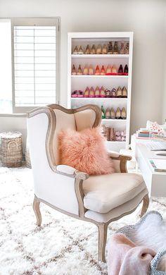 Home Office Makeover (Hello Fashion) Home Office Design, Home Office Decor, Home Design, Office Ideas, Design Ideas, Office Decorations, Office Inspo, Diy Design, Home Interior