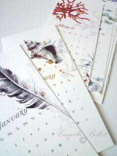 Lovely. {Wall calendar for 2012 via @Etsy}
