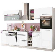 Küchenzeile, Held möbel, »Avignon«, mit E-Geräten, Breite 300 cm – 2499€
