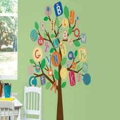ABC Tree Giant Wall Stickers - Primary Colours : Bellas Little Ones, Buy Ergo Baby Carrier Australia and Manduca Baby Carrier. Personalised baby gifts, nursery decor, wall stickers and wall decals. Abc For Kids, Alphabet For Kids, Alphabet Wall, Abc Wall, Bedroom Stickers, Wall Stickers, Das Abc, Do It Yourself Design, Decoration Stickers
