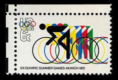 Also from the 1972 Munich Games, this stamp is a companion to the first one.