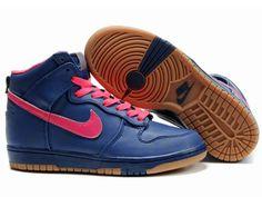 promo code b8ee6 bae0c Chaussures Nike Dunk High Bleu  Rose  nike 11815  - €62.98   Nike Chaussure