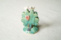Tree Wedding Cake Topper Love Bird Cake Topper by HerMoments