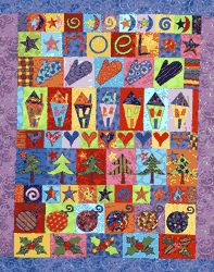 "Noel version from ""Row by Row Seasonal Quilts -- 6 Colorful Designs"" by Linda Lum DeBono"