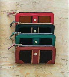 Boutique Collection Zip Wallet: Poppy, Black, Emerald, and Cognac. #spartina449