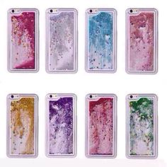 Fashion Coloful Star Flowing Drift Sand Liquid Shiny Bling Glitter QuickSand Case For iPhone 6 4.7 inches Luxury Phone Case