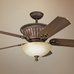 """Master  52"""" Larissa Tannery Bronze with Gold Accents Ceiling Fan"""