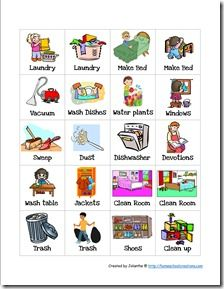 Printable chore graphics