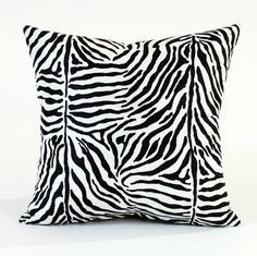 Add a fun, eye-catching accent to your home with this animal print pillow cover!
