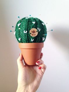 Cactus tricoté Coussin aiguille Plante de cactus par Balys