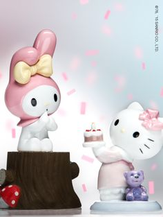 #MyMelody and #HelloKitty figurines make an enchanting display - by #Lladro