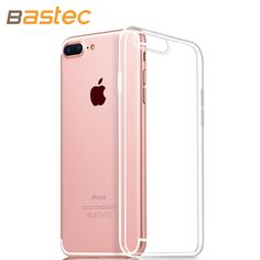 Bastec Clear TPU Phone Case for iPhone 7 7 Plus 6 6s Plus 5 5s se  0.3mm Ultra Thin HD Clear Crystal Soft Phone Cover Case * Read more at the image link.