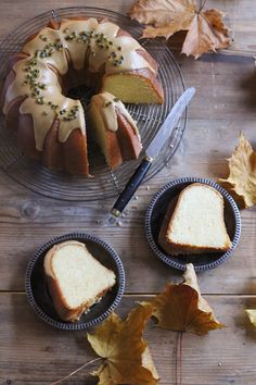 Lemon and Passion Fruit Bundt Cake