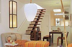 Escadas Interiores parágrafo Espaços Pequenos