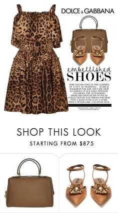 """""""Embellished"""" by conch-lady ❤ liked on Polyvore featuring Dolce&Gabbana, Dolce and embellishedshoes"""