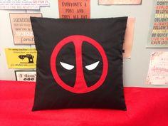 DEADPOOL  Black Red Anti Superhero Cushion Pillow by BeUniqueBaby