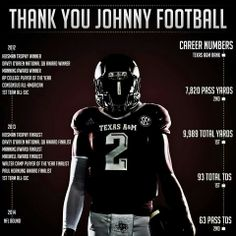 Johnny Manziel... sad he chose to leave but I know he will do well in the NFL!