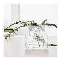 ENSIDIG Vase, klart glas - IKEA