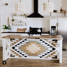 "Nikki Camou | Bohemian Decor on Instagram: ""If you need me, it's gonna be a while! I've died and gone to AirBnb heaven! This husband and wife team @chiselbuilt is nailing this reno…"" #WoodworkKitchen"