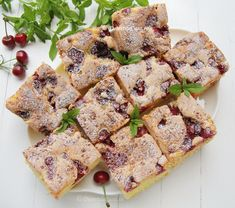 Cake Cookies, Deserts, Good Food, Sweets, Bread, Cooking, Breakfast, Cherry Fruit, Bakken
