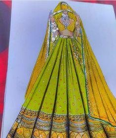 Indian Illustration, Dress Illustration, Fashion Illustration Dresses, Fashion Illustrations, Fashion Design Books, Fashion Design Sketchbook, Fashion Design Drawings, Fashion Sketches, Fashion Drawing Tutorial