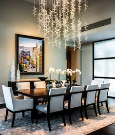 Contemporary Dining Room Lighting Ideas 30 modern dining rooms design ideas | dining room modern, black