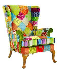 Tela de Patchwork de Penshurst diseñadores sillón por JustinaDesign