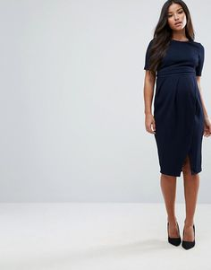 cfefa3a443871 ASOS Maternity   ASOS Maternity Double Layer Textured Smart Dress Maternity  Work Clothes, Maternity Dress