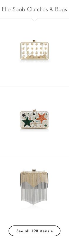 """""""Elie Saab Clutches & Bags"""" by sakuragirl ❤ liked on Polyvore featuring bags, handbags, clutches, star purse, clear handbags, white clutches, white purse, elie saab, lucite purse and multi colored clutches"""