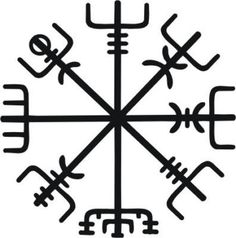 """Este é o símbolo de proteção Norse chamado Vegvísir, que tem um significado profundo. A palavra Icelandic significa literalmente """"poste indicador"""" ou """"sinal de sentido"""". Na cultura popular moderna da Vegvísir é muitas vezes chamado Runic Compass ou ver a maneira. Ela é freqüentemente associada com a Idade Viking, que não é correto: este símbolo é do grimoire islandês do século 17 chamado Galdrabók (""""livro mágico""""). Vegvísir foi desenhado em sua testa com sangue para impedir uma pessoa de se…"""