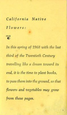 Richard Brautigan, Please Plant This Book. Kinds Of Reading, The Twenties, Books To Read, Poems, This Book, The Unit, Sayings, Plants, Lyrics