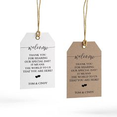 Welcome Wedding Tag Template Wedding Welcome Bag Tag Wedding Wedding Tags, Beach Wedding Favors, Wedding Labels, Wedding Templates, Wedding Thank You, Wedding Ideas, Wedding Invitations, Wedding Decor, Wedding Messages